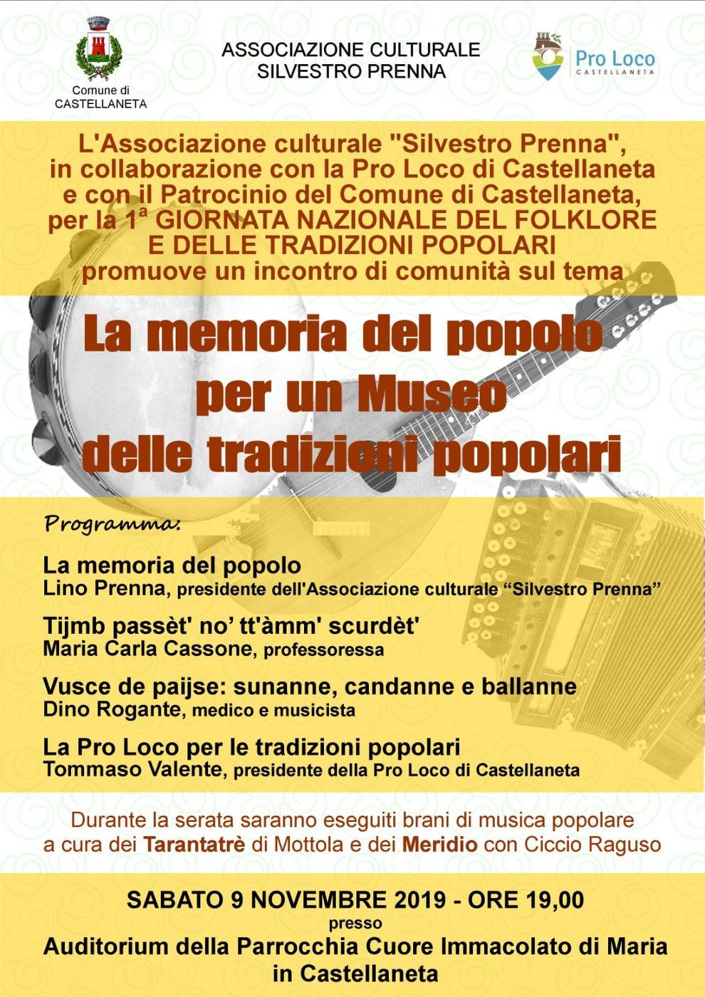 La memoria del popolo per un museo delle tradizioni popolari – 9 novembre 2019